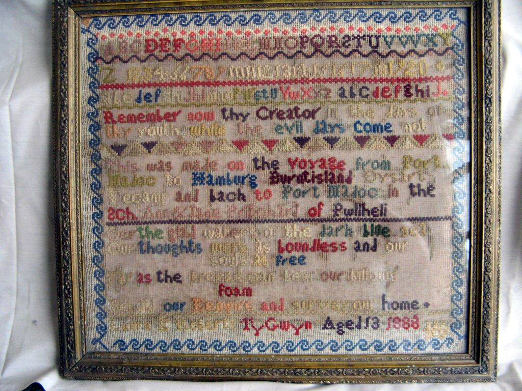 Embroidery made by captain's daughter during a voyage