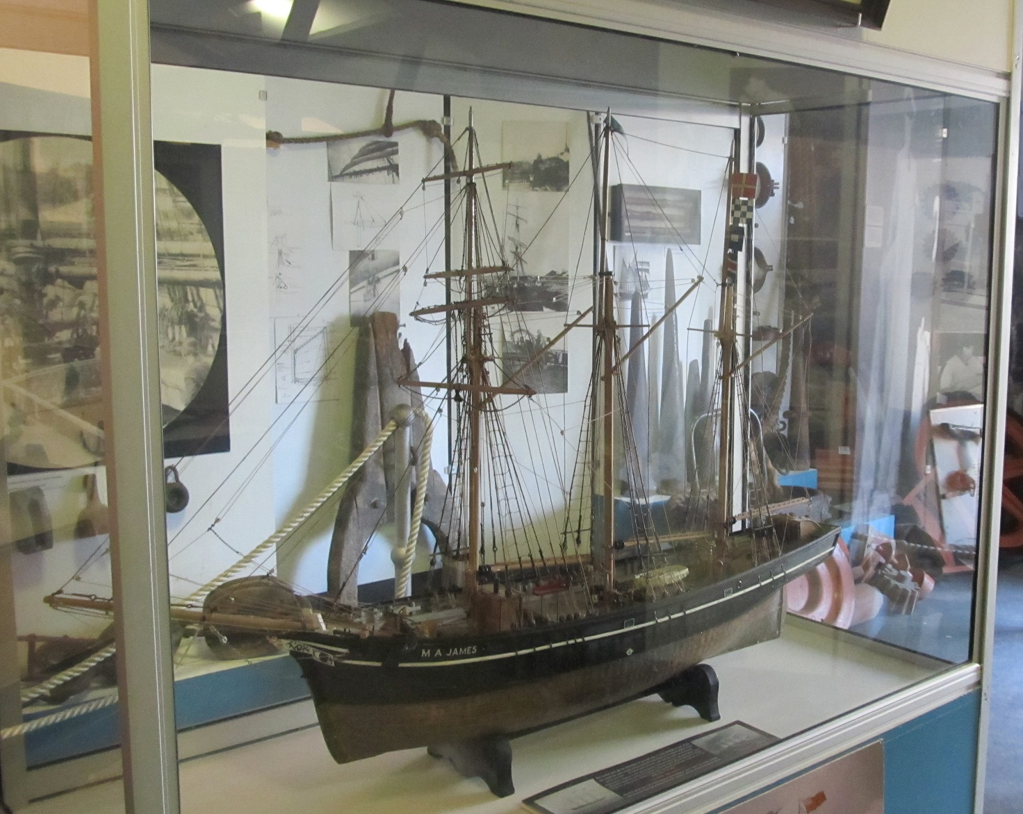 Model of the schooner M.A.James
