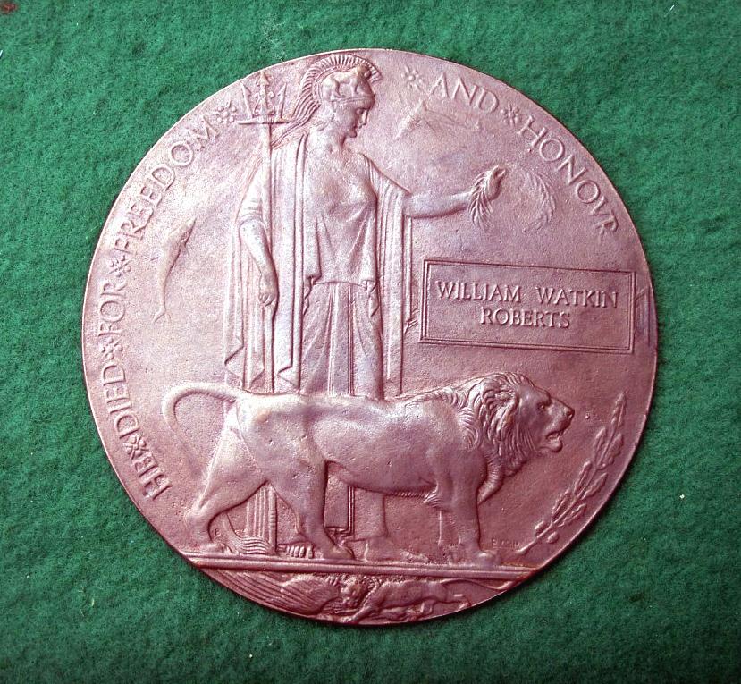 """""""Dead Man's Penny"""" memorial medallion"""