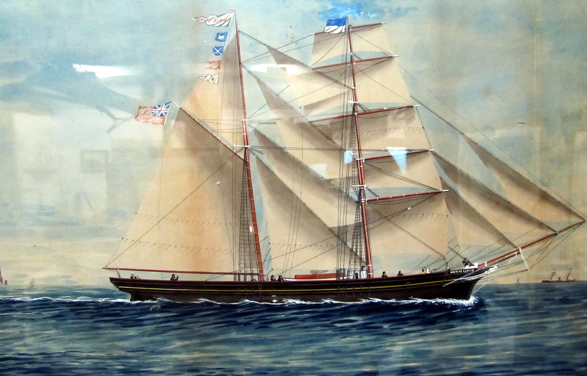 Painting of brigantine Annie Lloyd