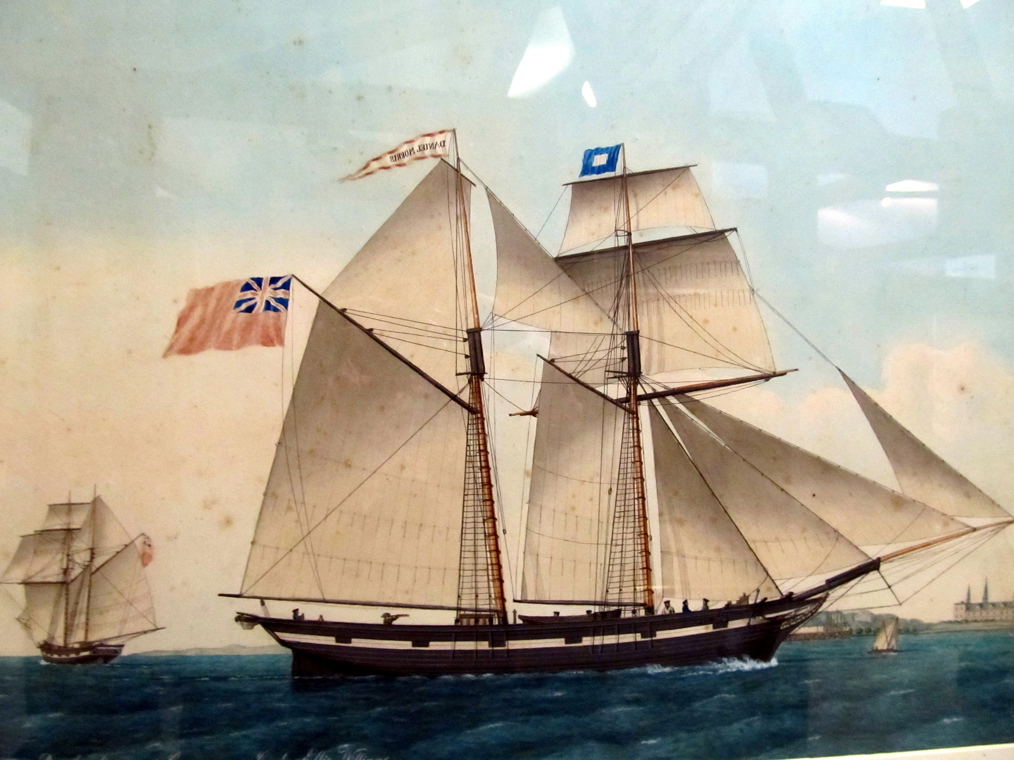 Painting of schooner Daniel Morris