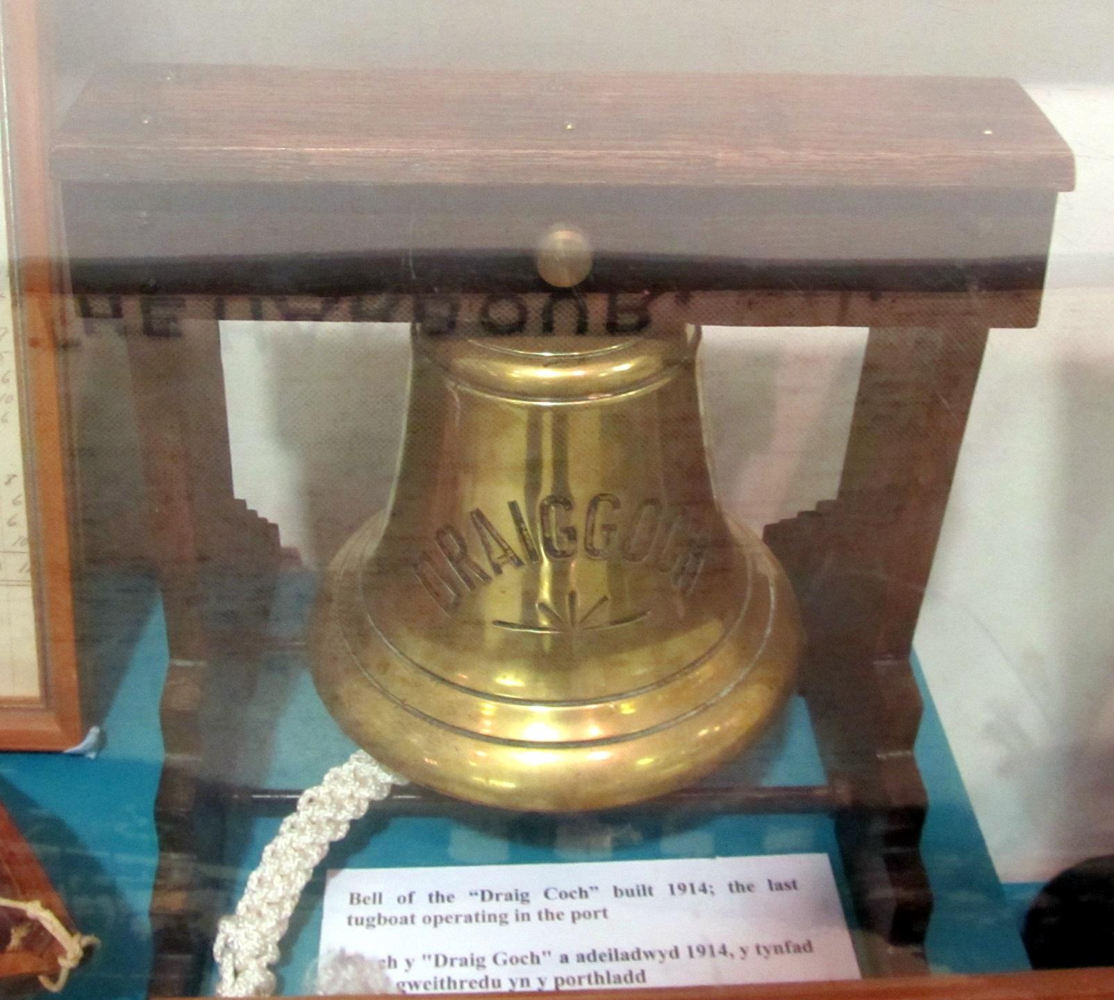 """Bell from last tug boat """"Draig Goch"""""""
