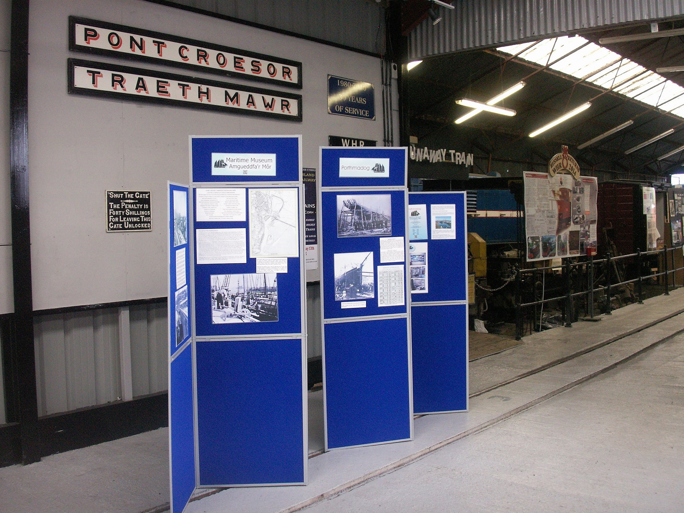 Mobile display at the Welsh Highland Heritage Railway