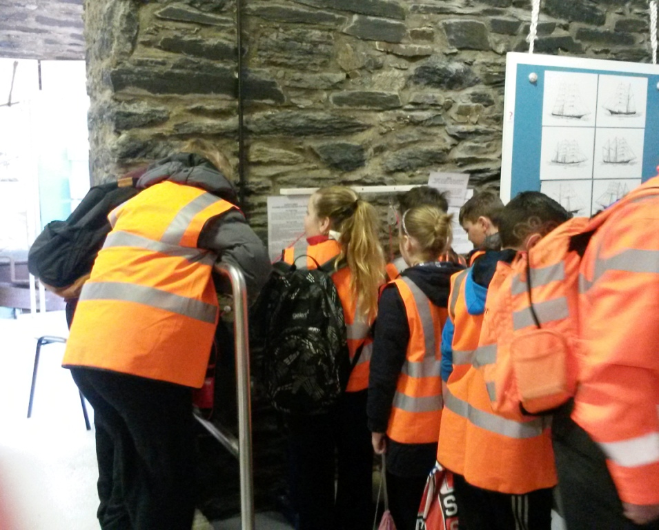 Schoolchildren at the Museum