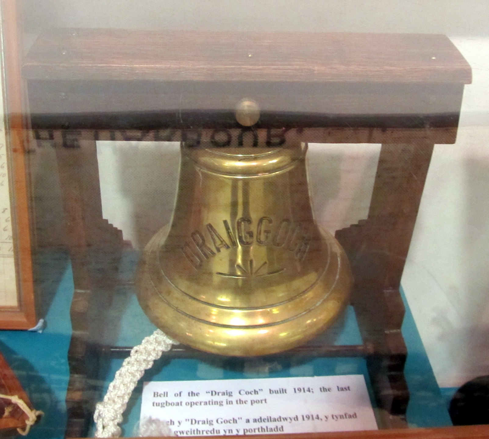 Bell from last tug boat